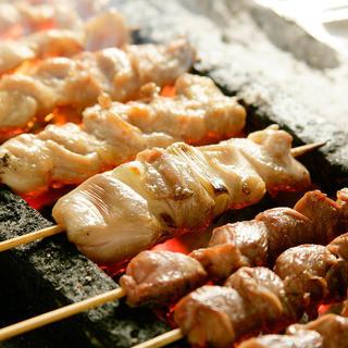 ◆岩手県・清流若鶏を使用した本格炭火串焼き◆