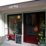 Cafe Weg - お店の正面を撮ってます。お洒落なcafeって感じですよね。