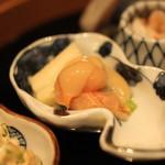 有いち - 八寸 (赤貝 と 山独活 の酢味噌和え(ぬた))