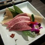まる牛 - 料理写真:ミスジ(1人前)