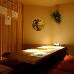 割鮮 吉在門 - 少人数宴会にも対応できる落ち着いた個室もご用意できます!
