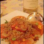 ラ・パール・デサンジュ - トマトとちりめんじゃこのサラダ