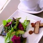 シナー カフェ - ランチについてくるサラダ&ドリンク。