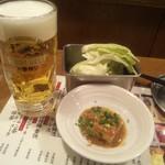 Kushikatsudengana - 先ずは、ビールで乾杯!