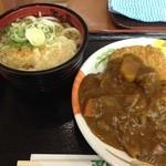 23915200 - カツカレーと天ぷらうどん