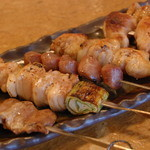 【大山鶏の串焼き】