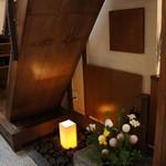 喫茶去かつて - 店内、階段下の空間(2014.1.24)