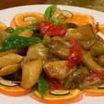 中国食府 双龍居 - 08)なすとピーマンとジャガイモの醤油炒め