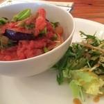 23926356 - 茄子と菜の花のトマトソースパスタ