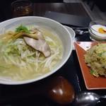 Shoushinshin - セット「塩ラーメン+半チャーハン」850円也。税込。