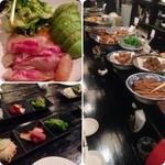 時代屋 - 大皿料理が一杯!アボカドと白身魚のサラダ様は最高です♪