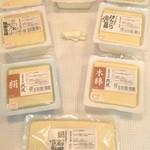 豆腐工房 我流 - <豆腐>機会は一切使わず、全て手造りです。