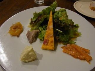 とらっとりあ 天野 - ランチ(1260円)の前菜