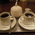 喫茶生活 - 飲み比べはこんなふう