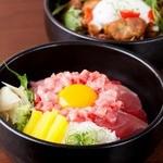 居酒屋いち - 生マグロの贅沢丼&宮崎森林鶏の焼鳥丼