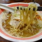 らーめん つけそば 古今亭 - 鶏白湯ラーメンの麺☆