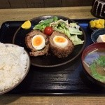 あぜみち - 日替わり定食(ポーチドエッグ)