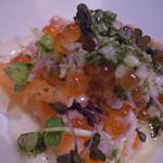 野菜倶楽部818 - スモークサーモンのカルパッチョ