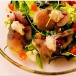 ブルズアイ・オン・プリュス - 鮮魚のカルパッチョ1200円