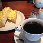 ヒロコーヒー - ブレックファーストメニュー(エッグトースト)550円