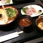 23945459 - 天丼と4種のお造りの定食