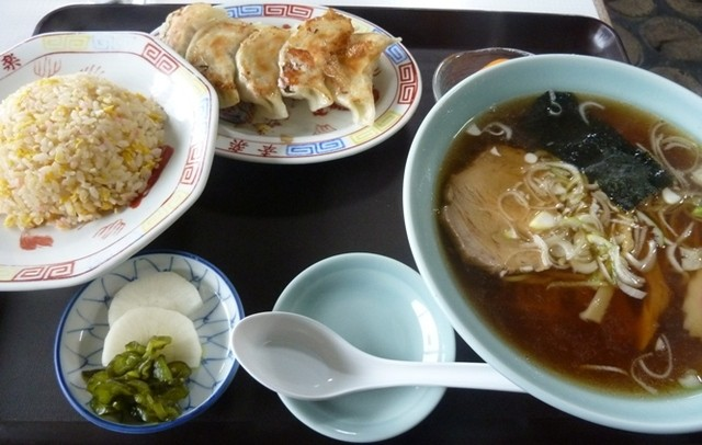 幸楽 - Cセット(ラーメン、半チャーハン、餃子)