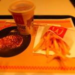 マクドナルド - ポテト(S):150円+アイスティー:100円