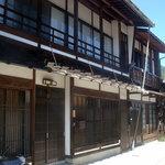 そば処 山なか - 奈良井宿の風情です