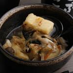 酒菜家 ごぶごぶ - 豆腐の揚げ出し きのこ餡かけ