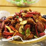 川香苑 - ラム肉と生唐辛子炒め