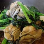 喜作 - 牡蠣とほうれん草のソテー