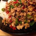 MANGALA - 鶏肉と野菜、バジルの炒め丼