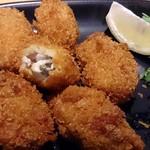 鶏吉 - 鶏吉 @日本橋 冷●食材間違いない6個のカキフライ