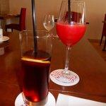 カジュアルフレンチ Sincerite - アフタードリンクです。赤いのはトマトジュース。