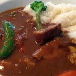 musubiのカフェ - この日のカレーは『豚ばら肉の和風煮込みカレー』