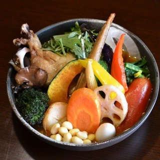 Soup Curry SAMURAI. - 料理写真:一日分の野菜20品目 1200円