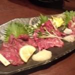 芋蔵 - 馬刺3種盛り合わせ