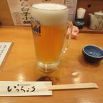 いっちょう 道頓堀店 - 生ビール