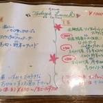 ラキュイエール - 2014年1月のランチメニュー