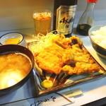 三幸 - とん天定食と瓶ビール