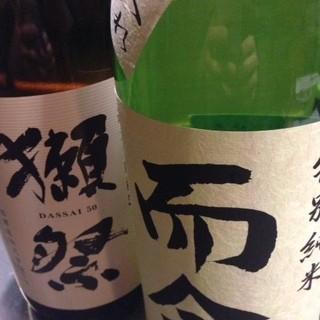 全国の希少な地酒が月替わりで楽しめます!!