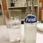 浜川崎商店 - 焼酎ピッチ割り350円(レモン) 明らかに1杯目よりも焼酎の量が多く!(驚)