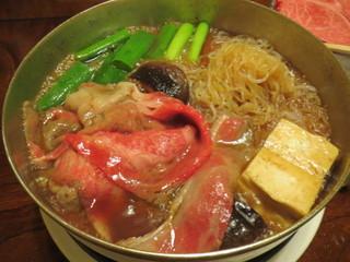 はり重 道頓堀本店 - お肉のあとは、豆腐、お野菜、そしてまたお肉