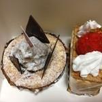 ラ・ブランシュ - 料理写真:ミルフィーユ、銀寄モンブラン
