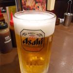 池袋酒場 情熱ホルモン - メガ生ビール