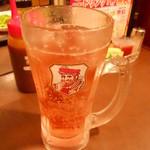 池袋酒場 情熱ホルモン - 紅酢ハイボール