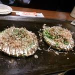 Yukari - すじねぎ焼 1350円と肉味噌焼 950円