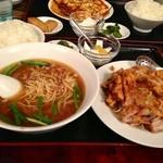 広盛園 - 油淋鶏定食 ¥880