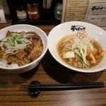 おぼや - Aセット1500円のおぼ丼とハーフ冷麺