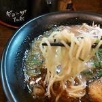 下町の空 - ストレート中太麺